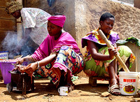 South African women cooking