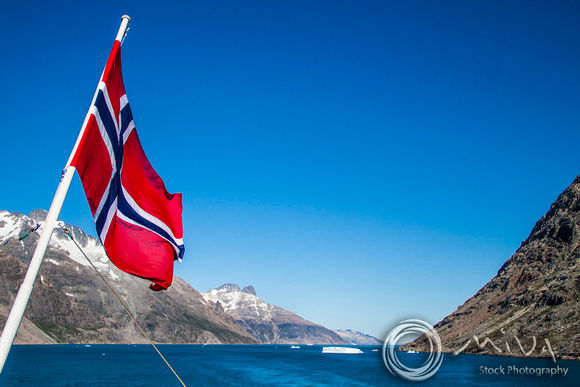 Miva Stock_3434 - Greenland, Prinz Christian Sund, Norway flag
