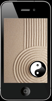 Iphone yin and yang black